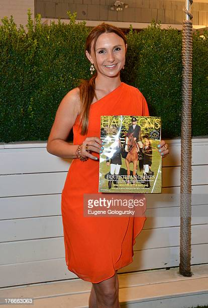 Georgina Bloomberg attends the Hamptons Magazine Celebration with Cover Stars Georgina Bloomberg and Brianne Goutal with Russian Standard Vodka at...