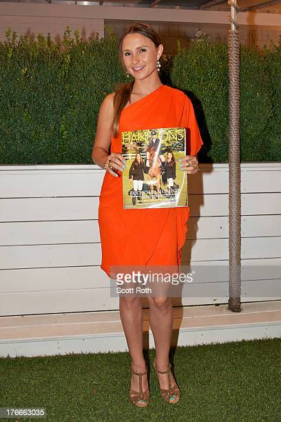 Georgina Bloomberg attends the Hamptons Magazine cover party celebrating Georgina Bloomberg and Brianne Goutal at Capri Hotel on August 16 2013 in...