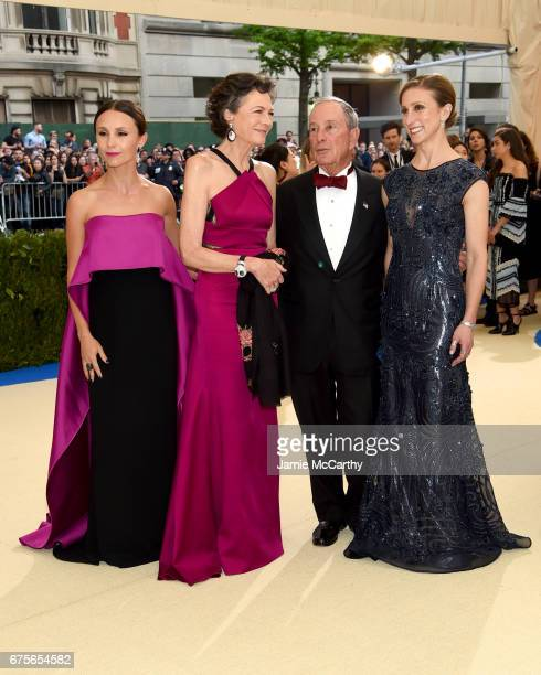 Georgina Bloomberg Diana Taylor Michael Bloomberg and Emma Bloomberg attends the 'Rei Kawakubo/Comme des Garcons Art Of The InBetween' Costume...