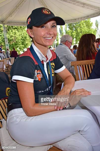 Georgina Bloomberg during the Global Jumping at Longines Global Champions Tour at Sommergarten unter dem Funkturm on July 29 2017 in Berlin Germany
