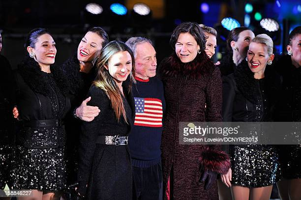 Georgina Bloomberg Michael Bloomberg and Diana Taylor onstage at Dick Clark's New Year's Rockin' Eve with Ryan Seacrest 2013 in Times Square on...