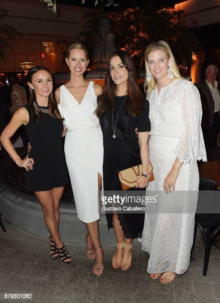 Georgina Bloomberg model Karolina Kurkova Ariana Rockafeller and Frances Peter attend the private opening celebration of RH West Palm on November 18...