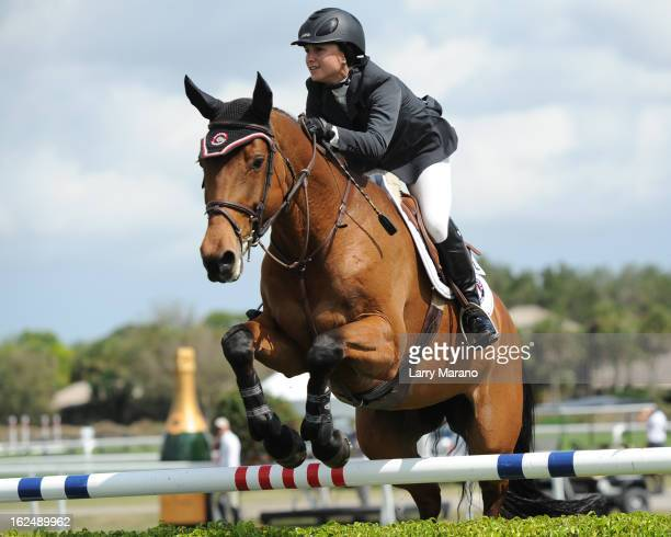 Georgina Bloomberg participtaes in FTI Consulting Winter Equestrian Festival at Palm Beach International Equestrian Center on February 23 2013 in...