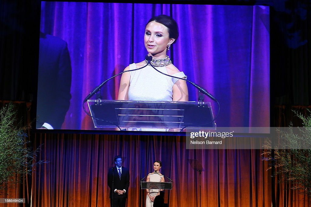 Georgina Bloomberg speaks on stage during The Humane Society of the United States' To the Rescue! New York Gala at Cipriani 42nd Street on December 18, 2012 in New York City.