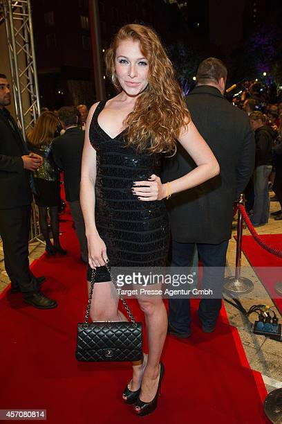 Georgina Buelowius attends the Adagio ReOpening on October 11 2014 in Berlin Germany