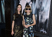 Georgina Chapman and Anna Wintour attend the ASP The World Surf League cocktail party at The Jimmy at the James Hotel on July 24 2014 in New York City