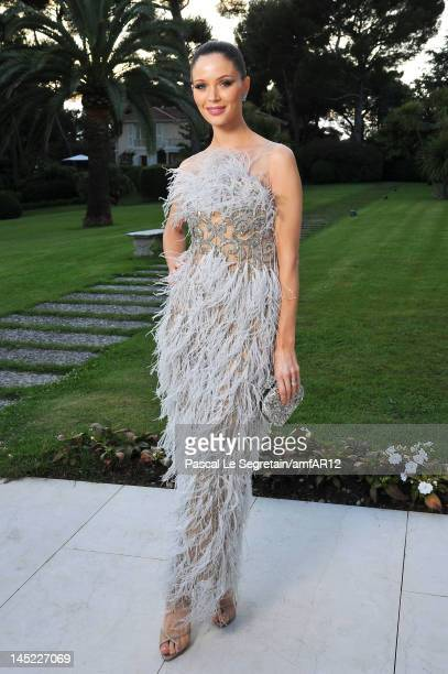 Georgina Chapman attends the 2012 amfAR's Cinema Against AIDS during the 65th Annual Cannes Film Festival at Hotel Du Cap on May 24 2012 in Cap...