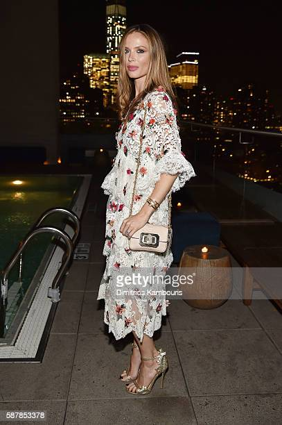 Georgina Chapman attends the after party for the screening of IFC Films' 'Disorder' hosted by The Cinema Society Chopard with Line 39 and Qui at The...