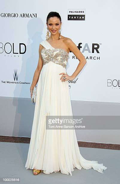 Georgina Chapman attends the amfAR Cinema Against AIDS 2010 at the Hotel du Cap during the 63rd Annual Cannes Film Festival on May 20 2010 in Antibes...