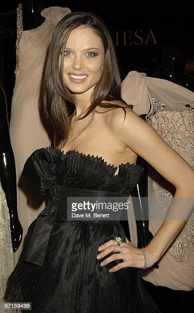 Georgina Chapman attends the VIP launch party for British couture label Marchesa's Spring/Summer 2006 collection founded by Georgina Chapman and...