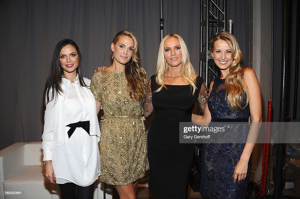 Georgina Chapman, <a gi-track='captionPersonalityLinkClicked' href=/galleries/search?phrase=Molly+Sims&family=editorial&specificpeople=202547 ng-click='$event.stopPropagation()'>Molly Sims</a>, Keren Craig and <a gi-track='captionPersonalityLinkClicked' href=/galleries/search?phrase=Petra+Nemcova&family=editorial&specificpeople=201716 ng-click='$event.stopPropagation()'>Petra Nemcova</a> and attend the Marchesa show during Spring 2014 Mercedes-Benz Fashion Week at New York Public Library on September 11, 2013 in New York City.