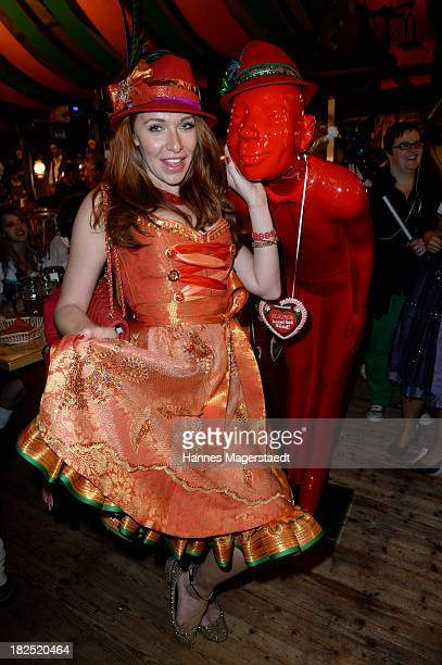 Georgina Fleur attends the Natascha Gruen Wiesn at Haxenbraterei during the Oktoberfest at Theresienwiese on September 29 2013 in Munich Germany