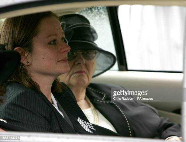 Georgina HenryBrock the sister of murdered Policeman Pc Jon Henry is seen in a car after his funeral at Holy Ghost Catholic Church in Luton