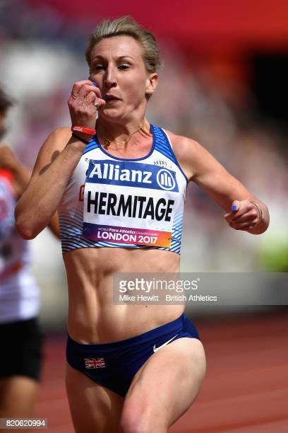Georgina Hermitage competes in round one heat one of the Womens 100m T37 during day nine of the IPC World ParaAthletics Championships 2017 at London...