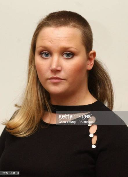 Georgina Ludden shows the 'haircut' she received in an assault during a holiday in Valeraki prior to a hair makeover in a salon in west London The...