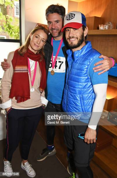 Georgina Rylance Edward Taylor and Ryan Prince attend the Lady Garden brunch following the 5K 10K Fun Run in aid of Silent No More Gynaecological...