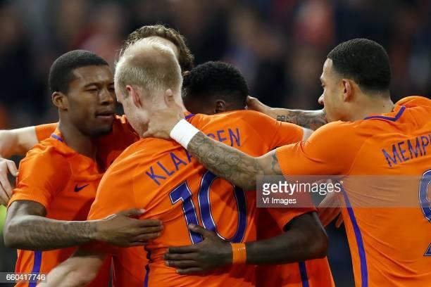 Georginio Wijnaldum of Holland Davy Klaassen of Holland Daley Blind of Holland Quincy Promes of Holland Memphis Depay of Hollandduring the friendly...