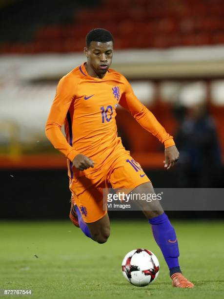 Georginio Wijnaldum of Holland during the friendly match between Scotland and The Netherlands on November 09 2017 at Pittodrie Stadium in Aberdeen...