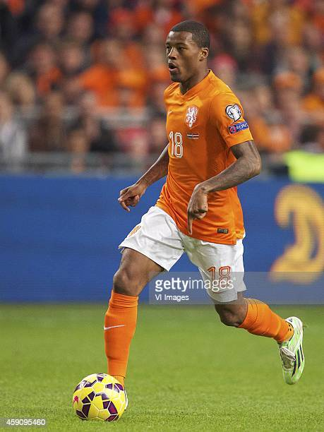 Georginio Wijnaldum of Holland during the match between Netherlands and Latvia on November 16 2014 at the Amsterdam Arena in Amsterdam The Netherlands