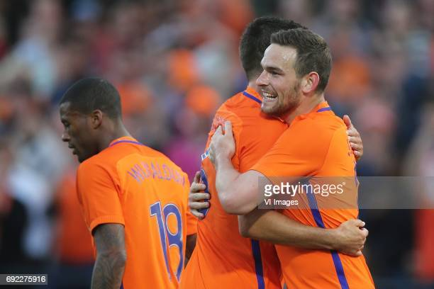 Georginio Wijnaldum of Holland Kevin Strootman of Holland Vincent Janssen of Hollandduring the friendly match between The Netherlands and Ivory Coast...