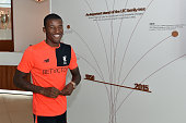 Georginio Wijnaldum of Liverpool arrives to sign his contract at Melwood Training Ground on July 22 2016 in Liverpool England
