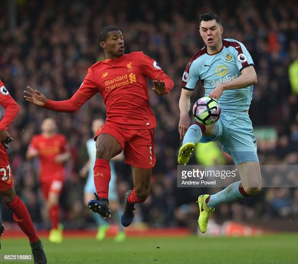 Georginio Wijnaldum of Liverpool during the Premier League match between Liverpool and Burnley at Anfield on March 12 2017 in Liverpool England