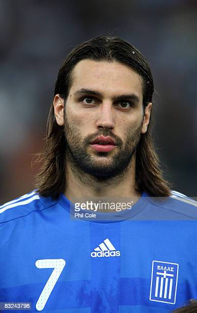 Georgios Samaras of Greece during the Group Two FIFA World Cup 2010 qualifying match between Greece and Moldova held at the Georgios Karaiskakis...