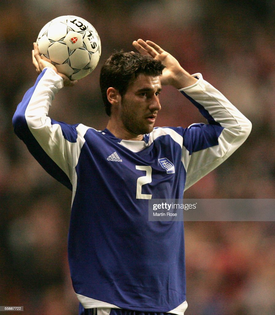 Georgios Seitaridis of Greece during the FIFA World Cup 2006 Group 2 Qualifier match between Denmark and Greece at the Parken Stadium on October 8...