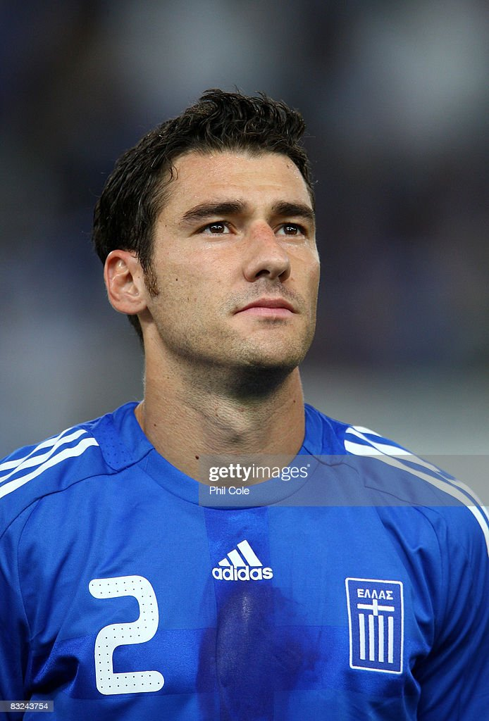 Georgios Seitaridis of Greece during the Group Two FIFA World Cup 2010 qualifying match between Greece and Moldova held at the Georgios Karaiskakis...