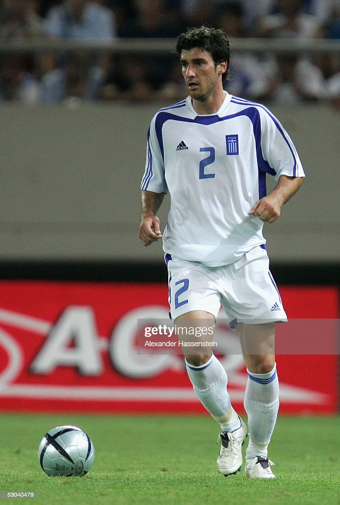 Georgios Seitaridis of Greece in action during the FIFA World Cup 2006 Qualifier between Greece and Ukraine on June 8 2005 in Athens Greece
