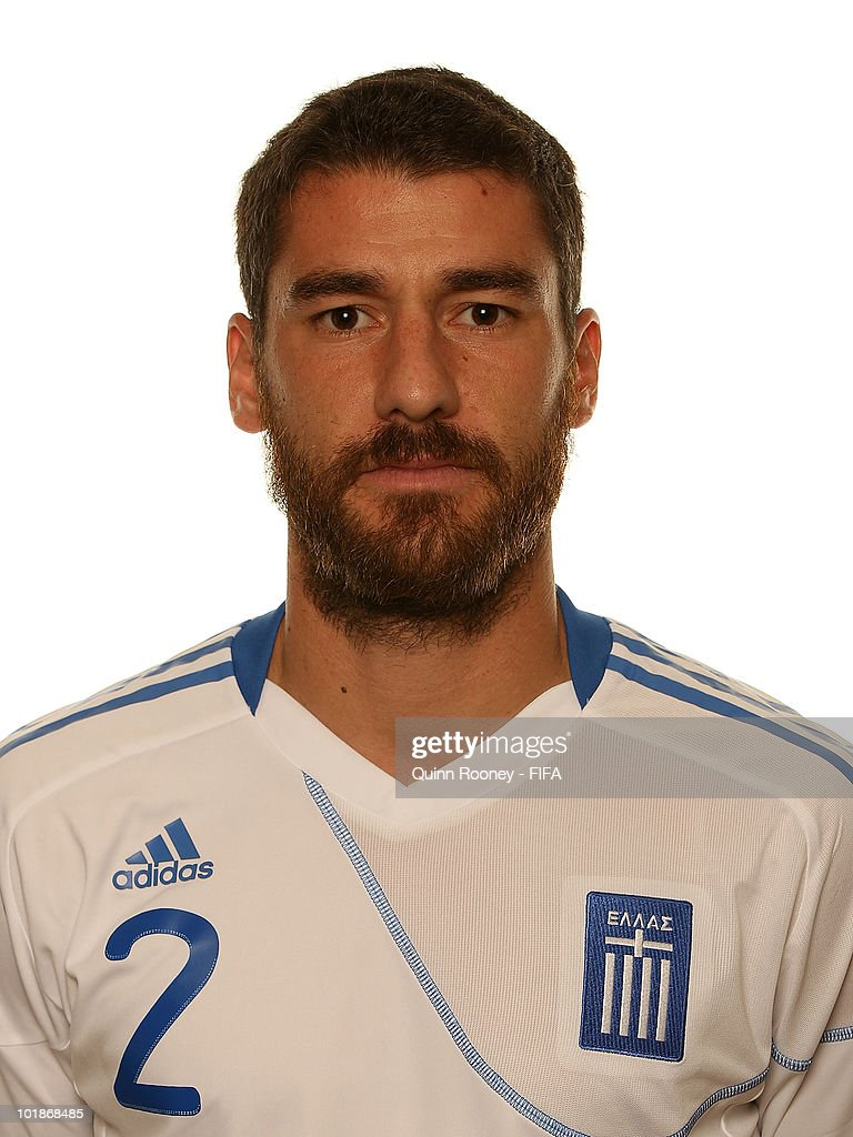Georgios Seitaridis of Greece poses during the official FIFA World Cup 2010 portrait session on June 7 2010 in Durban South Africa