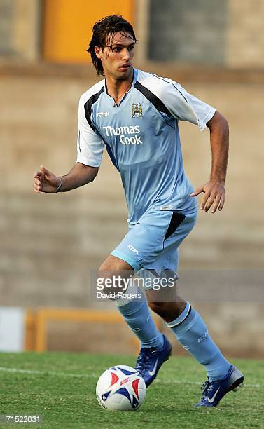 Georgious Samaras of Manchester City pictured during the preseason friendly match between Port Vale and Manchester City at Vale Park on July 26 2006...