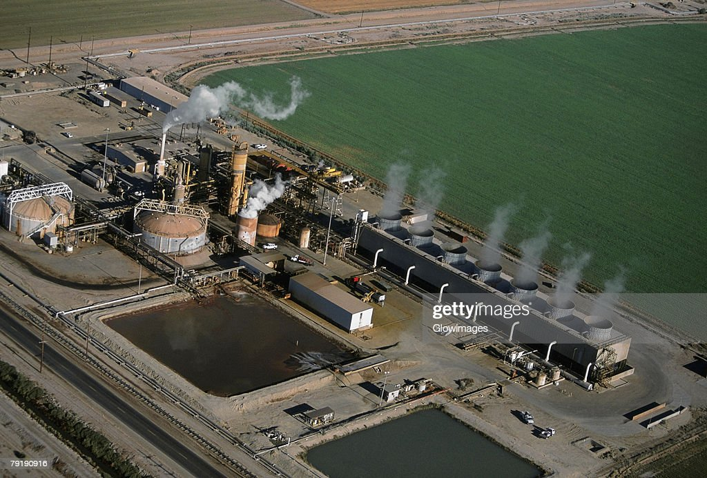 Geothermal power plant, Calipatria, California  : Foto de stock