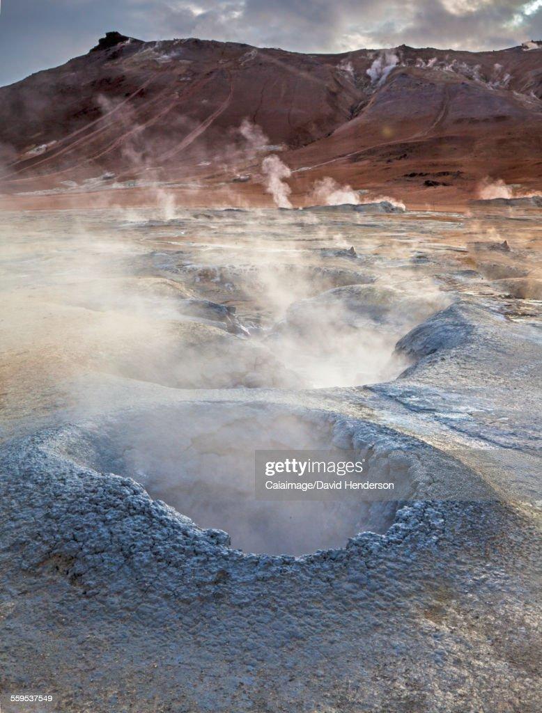Geothermal steam vents, Namaskard, Myvatn, Iceland