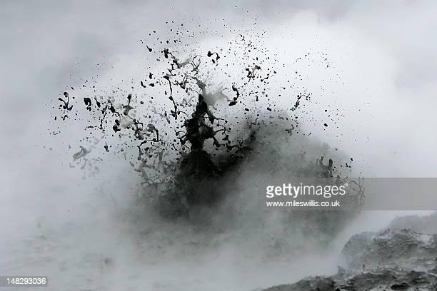Geothermally heated mud