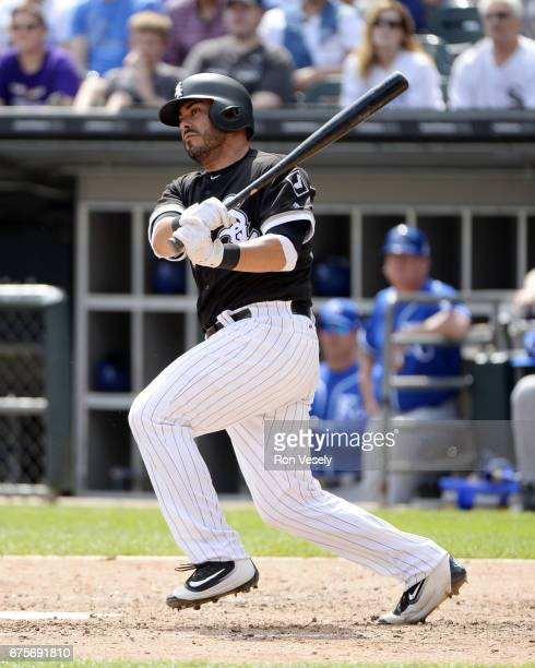 Geovany Soto of the Chicago White Sox bats against the Kansas City Royals on April 26 2017 at Guaranteed Rate Field in Chicago Illinois The White Sox...
