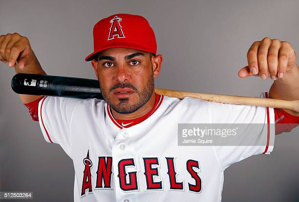 Geovany Soto of the Los Angeles Angels poses during a spring training photo day on February 26 2016 in Tempe Arizona