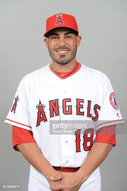 Geovany Soto of the Los Angeles Angels poses during Photo Day on Friday February 26 2016 at Tempe Diablo Stadium in Tempe Arizona
