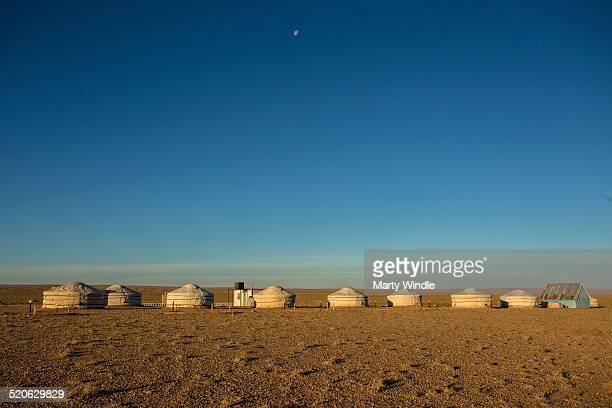 Ger camp Gobi Desert , Mongolia