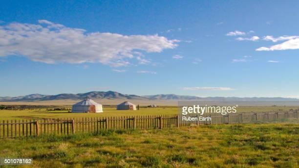 Ger camp resort in Mongolia