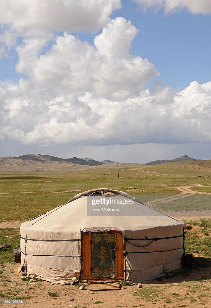 Ger in Mongolia : Stock Photo