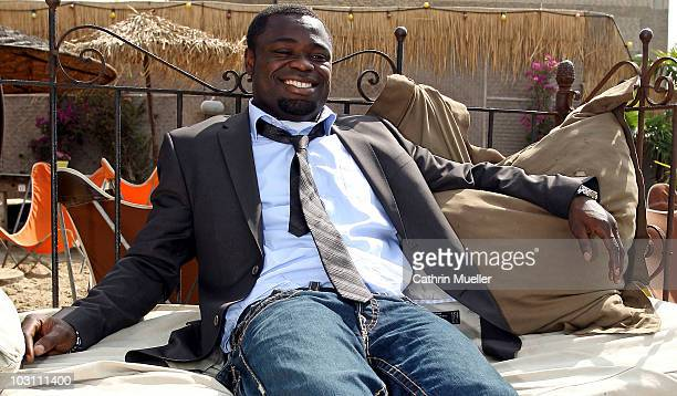 Gerald Asamoah poses during the FC St Pauli street wear presentation at Strand Pauli on July 27 2010 in Hamburg Germany