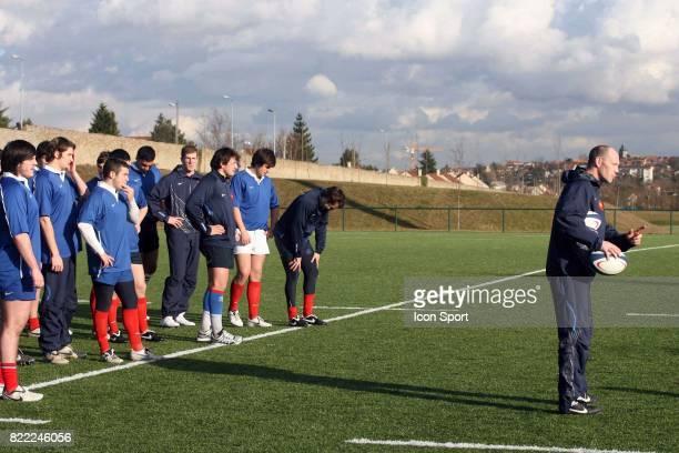 Gerald BASTIDE Entrainement de l'Equipe de France des 19 ans Marcoussis