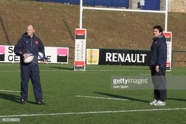 Gerald BASTIDE / Jean Marc BEDEREDE Entrainement de l'Equipe de France des 19 ans Marcoussis