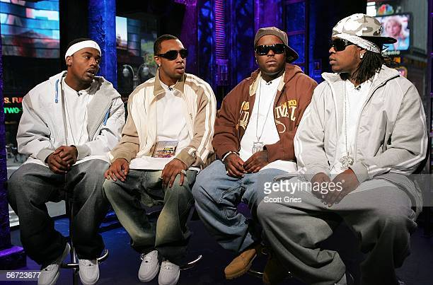 Gerald 'Buddie' Tiller Jamall 'Pimpin' Willingham Bernard 'Jizzal Man' Leverette and Maurice 'Parlae' Gleaton of Dem Franchize Boyz appear onstage...