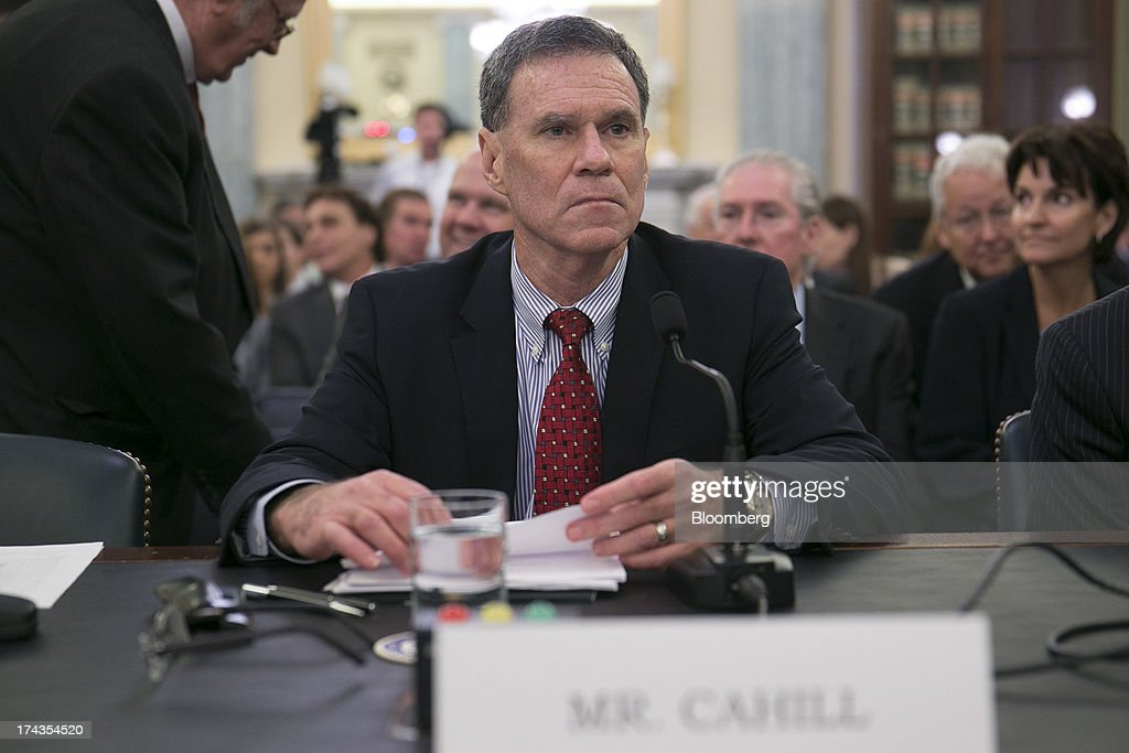 Gerald Cahill, president and chief executive officer of Carnival Corp.'s Carnival Cruise Lines, arrives to a Senate Commerce, Science, and Transportation hearing in Washington, D.C., U.S., on Wednesday, July 24, 2013. Carnival Corp., Royal Caribbean Ltd. and Norwegian Cruise Line Holdings Ltd., the target of proposed legislation after high profile mishaps at sea, will voluntarily publish more data about crimes on their cruises. Photographer: Andrew Harrer/Bloomberg via Getty Images