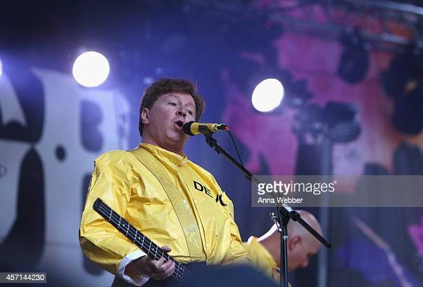 Gerald Casale of Devo performs at CBGB Music Film Festival 2014 Times Square Concerts on October 12 2014 in New York City