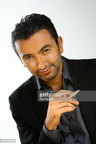 Gerald Dahan on the set of TV show 'Quotidien France'