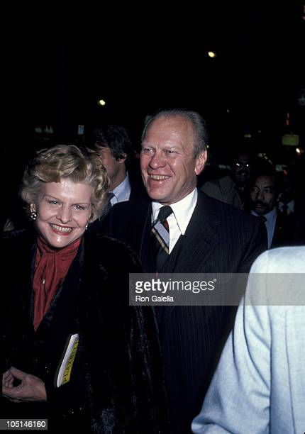 Gerald Ford and Betty Ford during Opening Of '42nd Street' On Broadway at Winter Garden Theater in New York NY United States