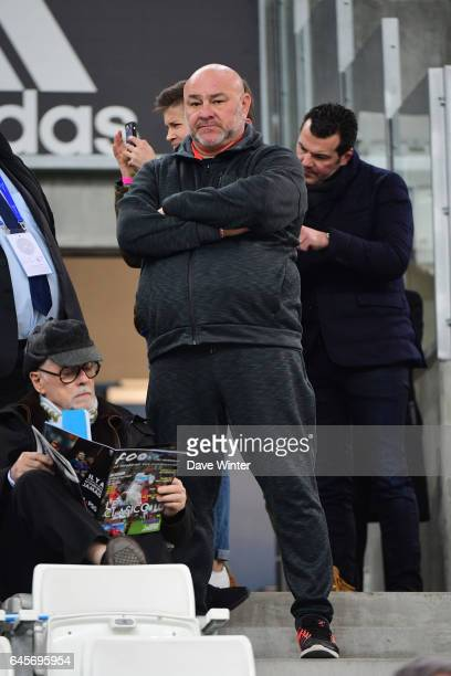 Gerald Gignac father of former Marseille player Andre Pierre Gignac during the French Ligue 1 match Marseille and Paris Saint Germain at Stade...